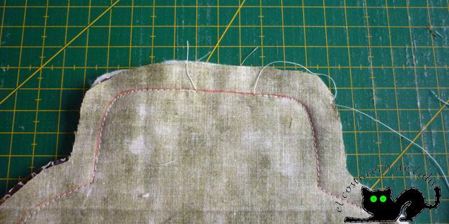 Fíjate en el hueco que dejé sin coser